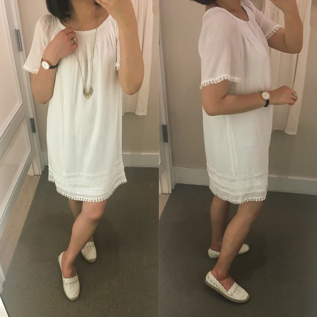 LOFT Tasseled Off The Shoulder Dress