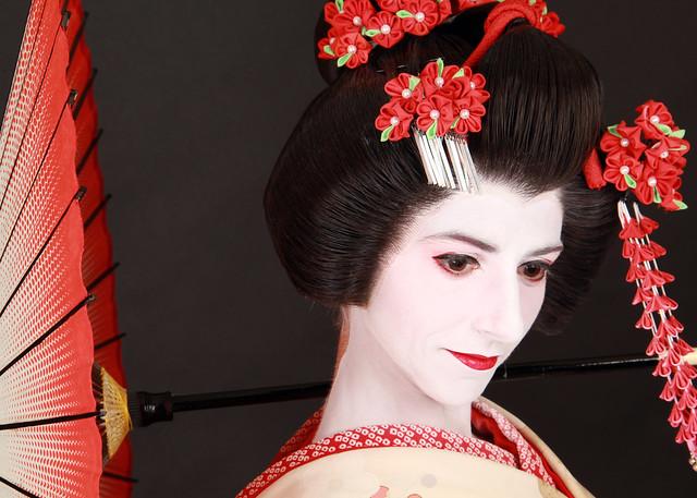 Maquillada como una maiko en Japón