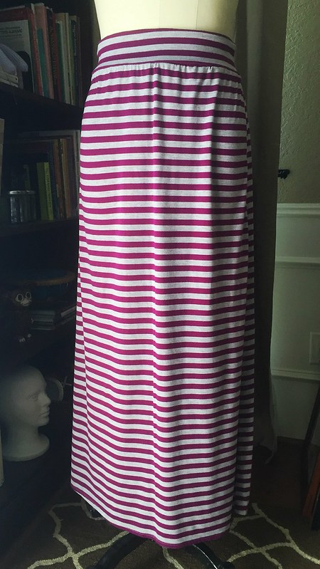Stripes and Floral Dress Refashion - Before