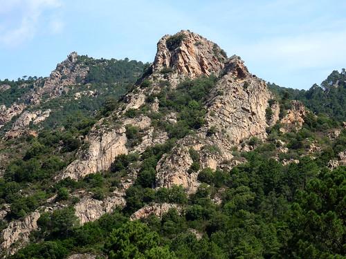 Sentier sous Punta Sant'Andria vers l'Osu : la pointe Saint-André