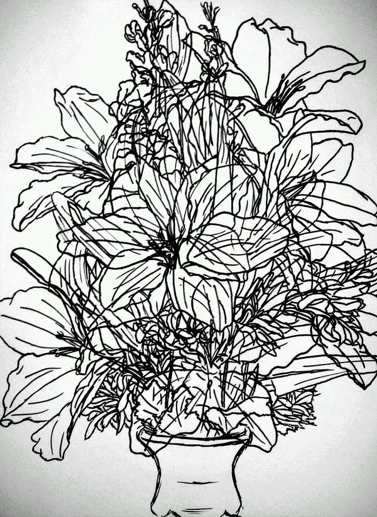 Cool Designs to Draw With Sharpie Flowers Flowers Sharpie Drawing