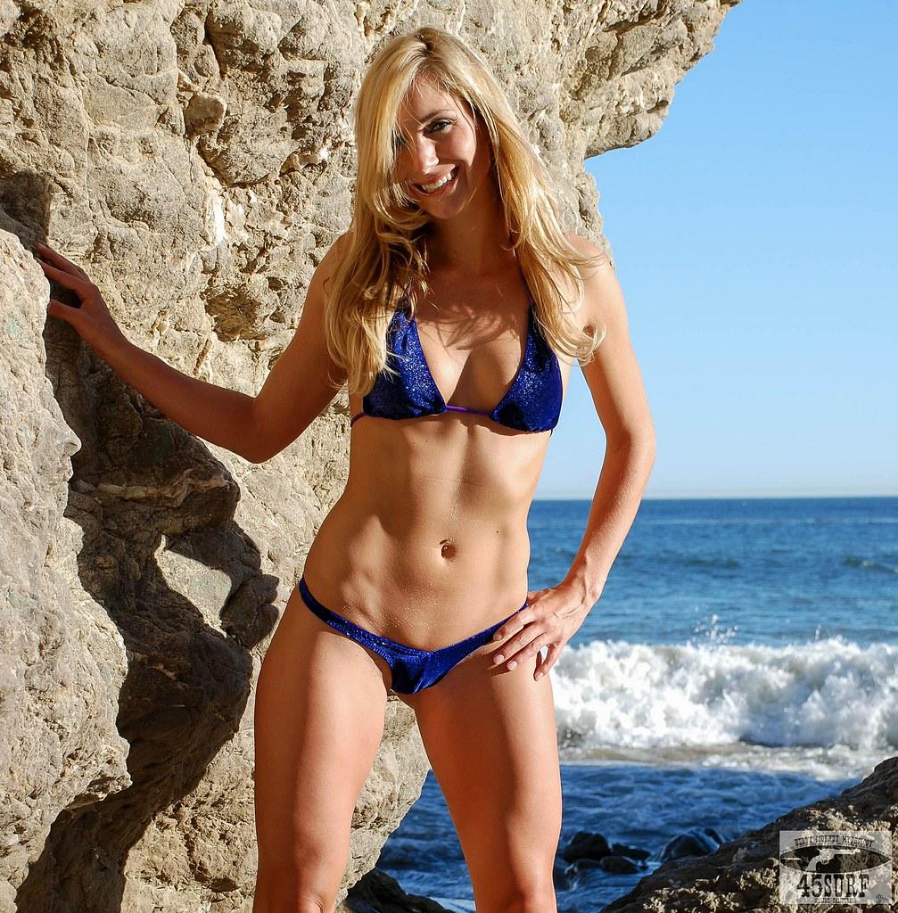 Blonde in tight bikini