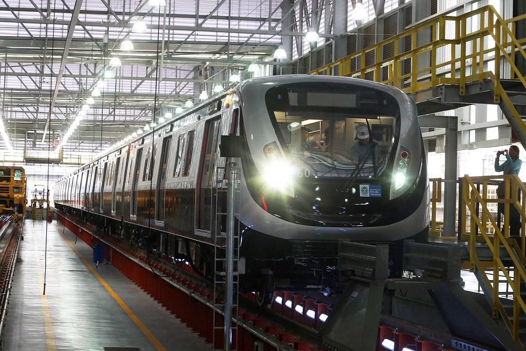 Primeiro trem da Linha 4 é apresentado pelo Governo do Estado e pelo Metrô Rio ::: Foto: André Gomes de Melo / Governo do Rio