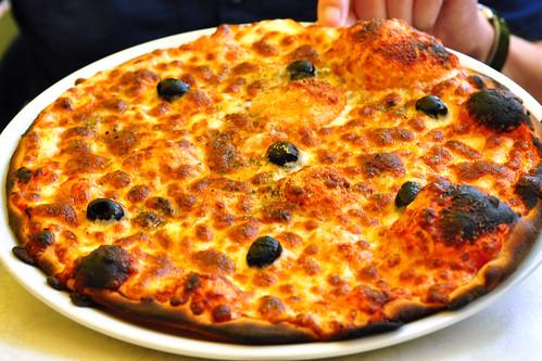 Bretagne-Urlaub 2016 - Saint-Gildas-de-Rhuys - Austern und Pizza im Restaurant Le Casier - Foto: Brigitte Stolle