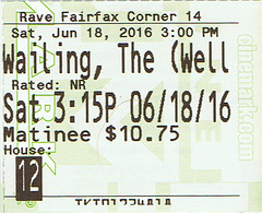 The Wailing ticketstub