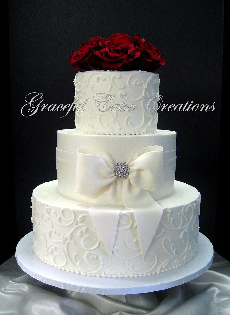 Cream Fondant Cake