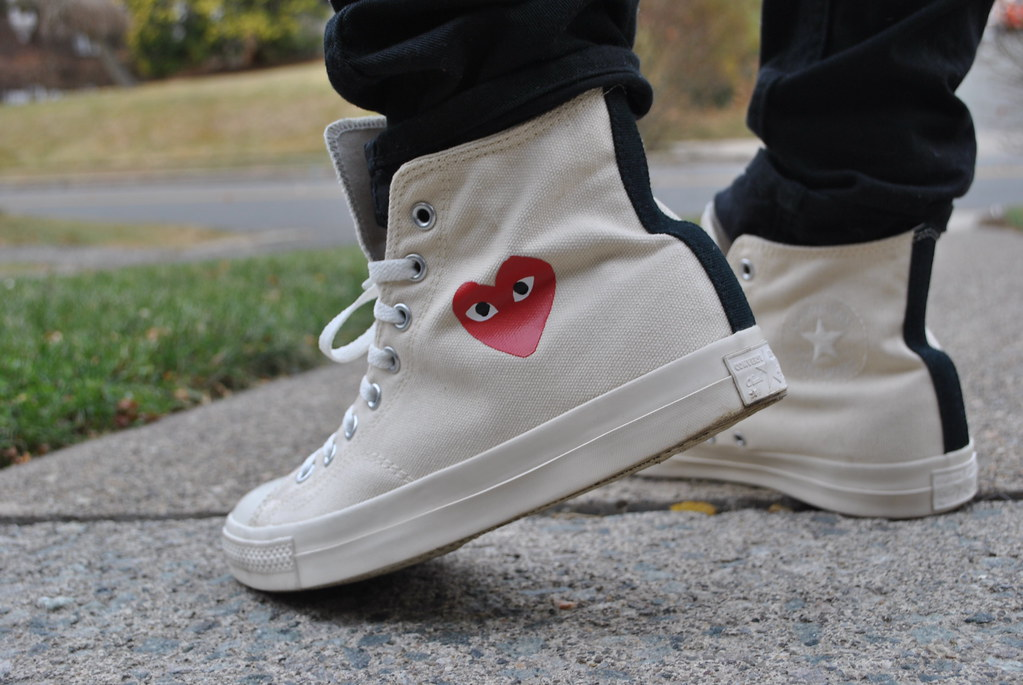 cdg converse high cream