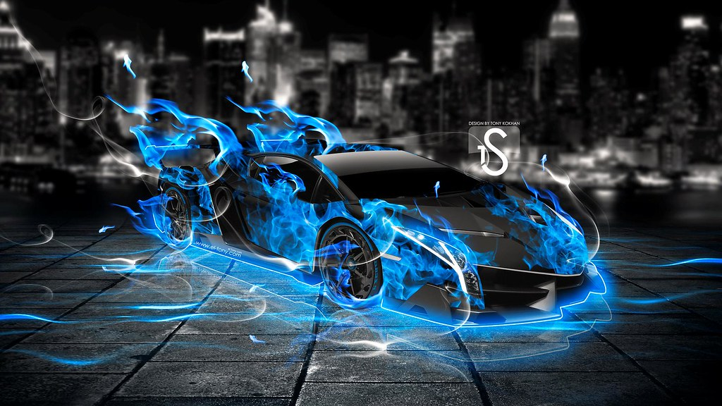 Blue Flame Lamborghini Michael Soliman Flickr