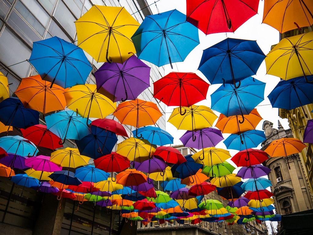 Colorful Rain Painting