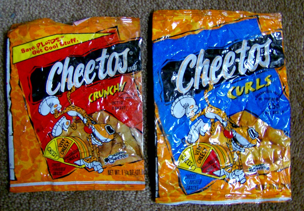 late 1990s cheetos bags this is from the location where