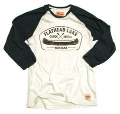 Sportiqe Flathead Lake Canoe Rental T-Shirt
