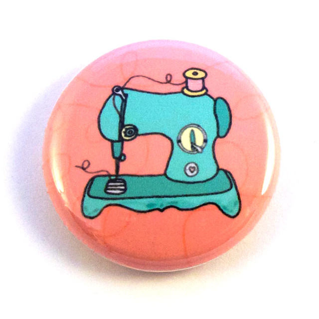 Vintage Sewing Machine Button