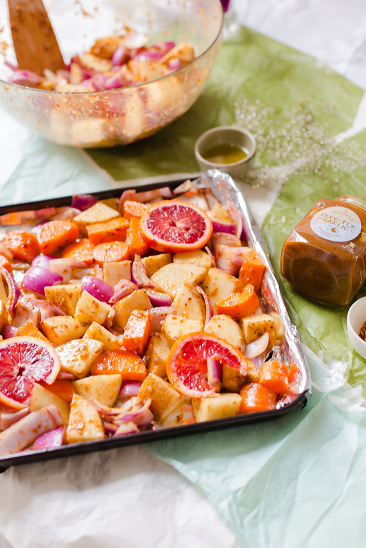 Roasted Vegetables with Blood Oranges