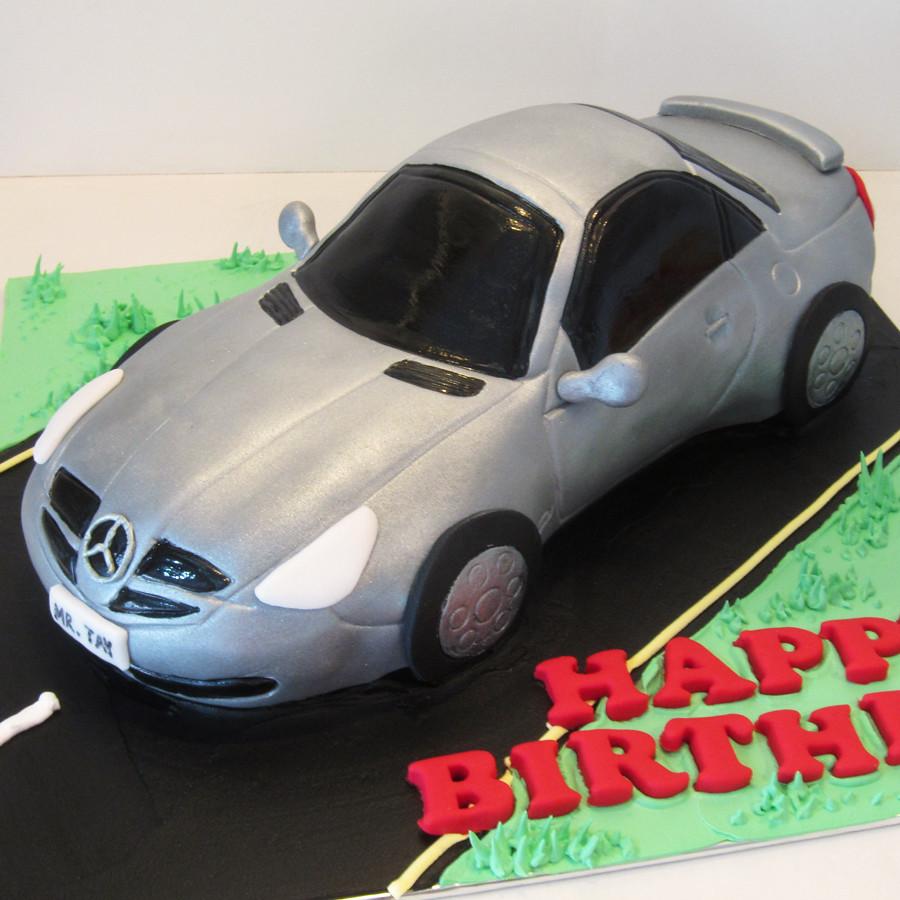 Mercedes Benz Silver Mercedes Benz Car Cake Artisan