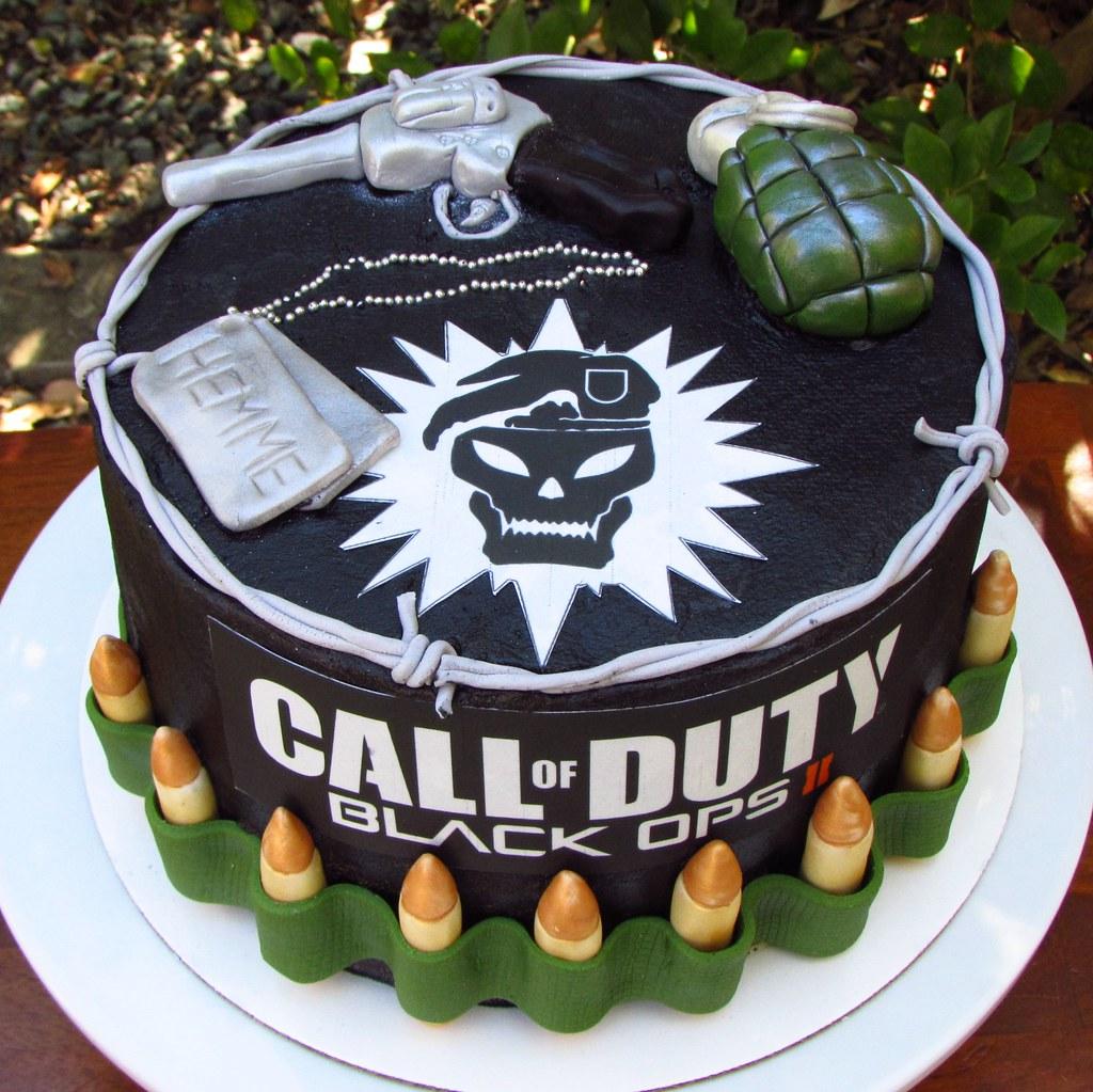 Call Of Duty Black Ops Birthday Cake Ideas