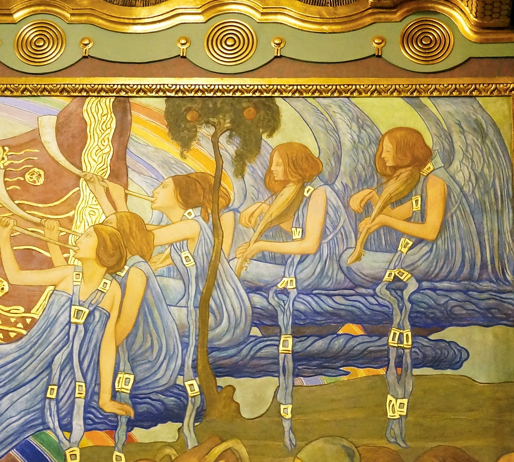 Budapest art nouveau newly renovated liszt academy of for Art nouveau mural