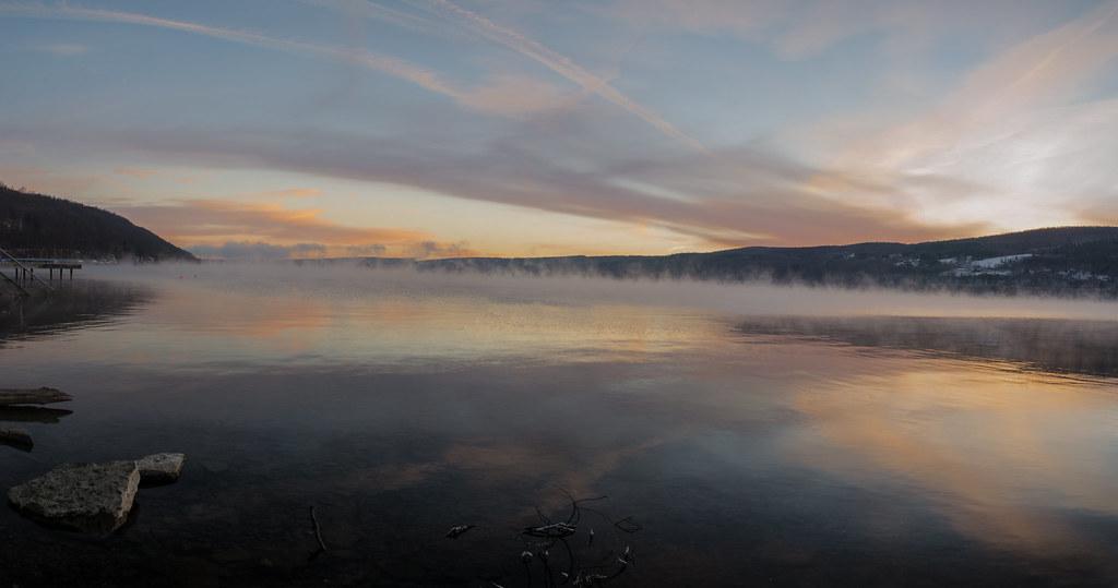 Keuka Lake Winter Sunrise Panorama Brian Holland Flickr