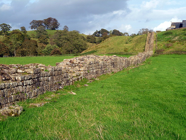 Curtain wall at Willowford