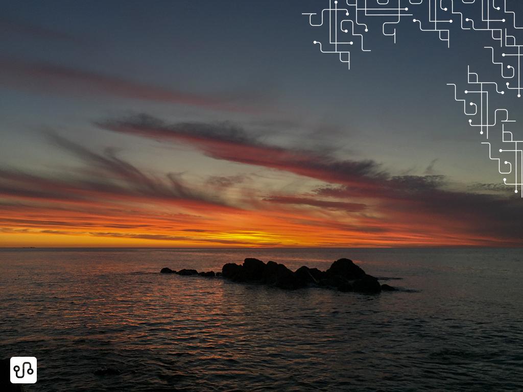 O pôr do sol Hallet Cove, Adelaide