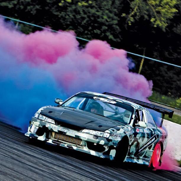 Datsun Car Wallpaper: Colorful Drift#nissan #240sx #silvia #jdm #rwd #japanese