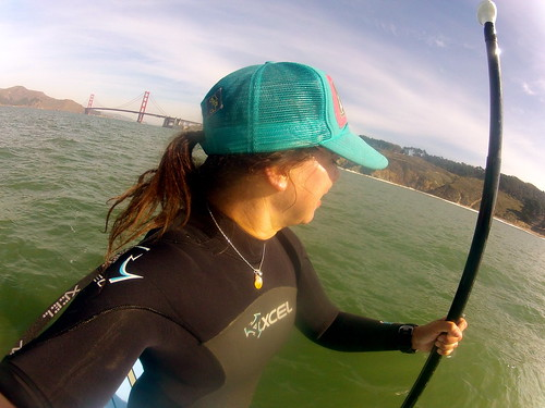 SUP'ing outside the Golden Gate Bridge in San Francisco