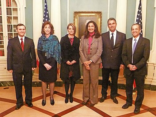 Committee to Protect Journalists Awardees Janet Hinostroza and Nedim Sener With Senior Advisor Tillemann, Assistant Secretary Jacobson, Acting Assistant Secretary Zeya, and Deputy Assistant Secretary Toner | by U.S. Department of State