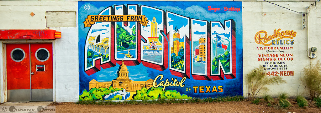 Greetings from austin this is my last image from 1st for Austin mural location