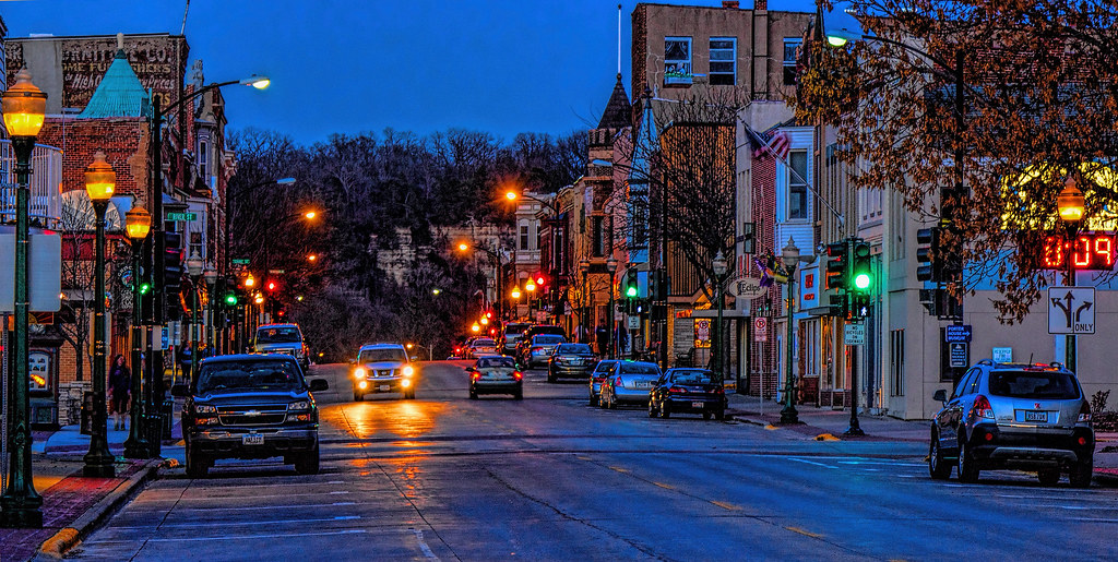 Night shot water street decorah iowa this is the rd