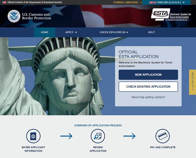 Visado ESTA para entrar a Estados Unidos