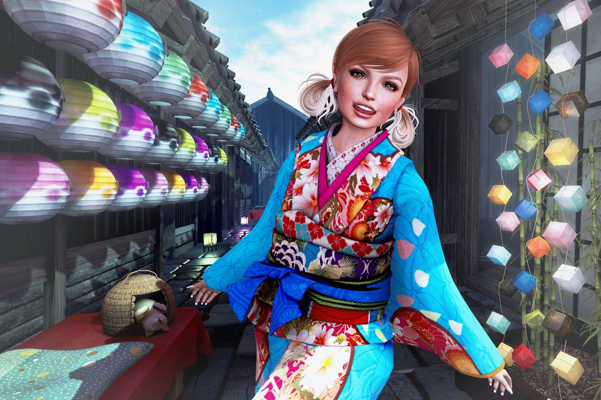W-ZERO Retro Kimono Hana Namida