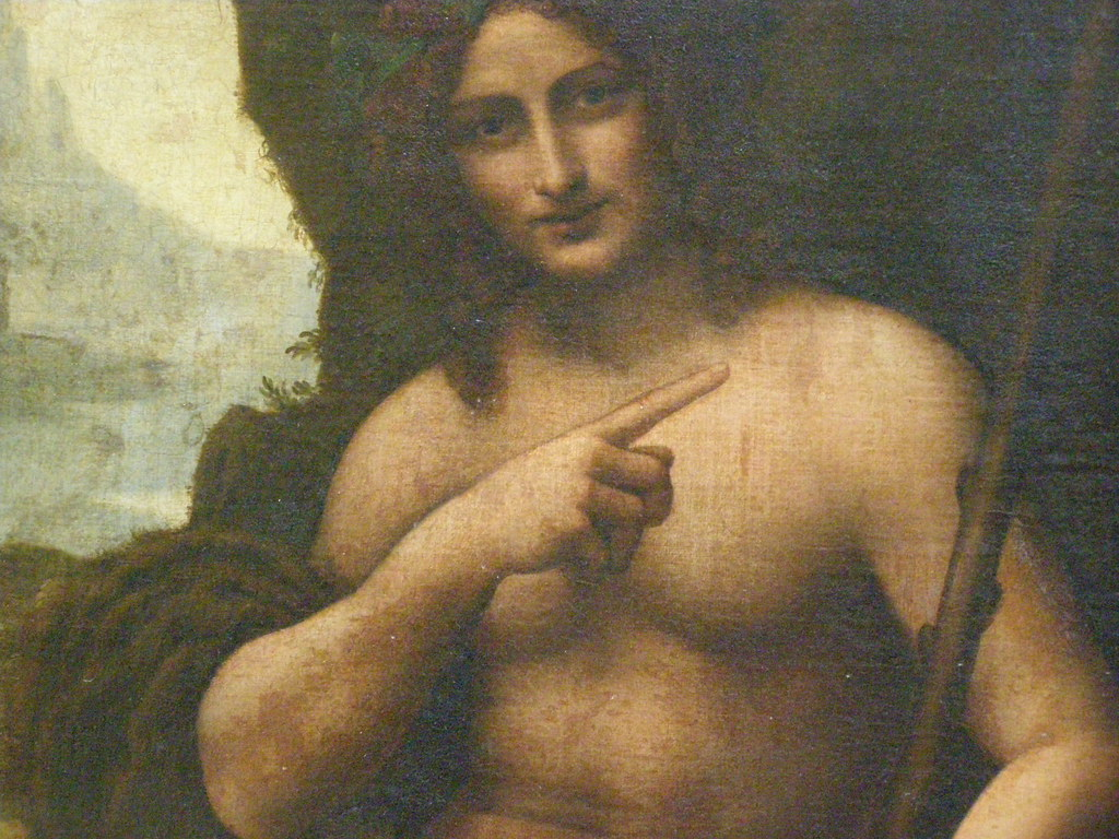 Image result for st john the baptist leonardo da vinci
