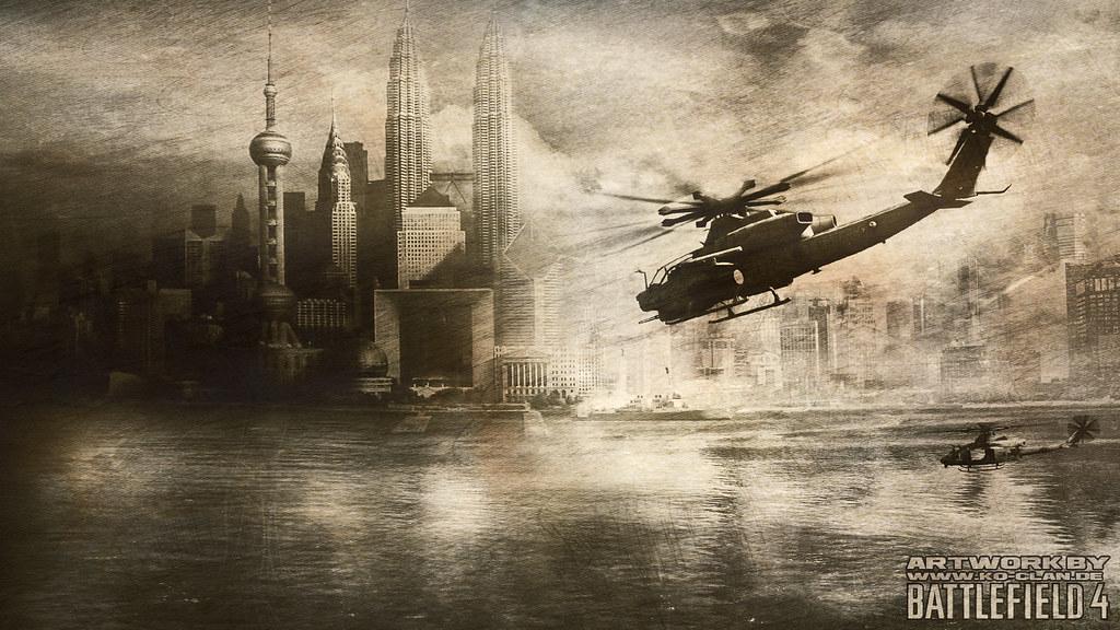 Battlefield 4 Elicottero : Battlefield helicopter attack on shanghai wallpaper artw