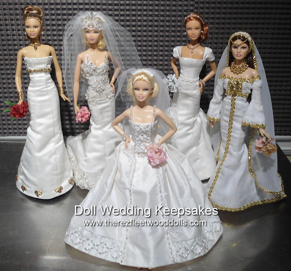 barbie dolls wedding dresses custom made wedding dresses f