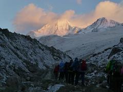 Der Aufstieg zum Larka Pass beginnt