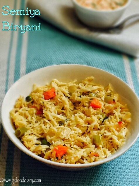 Semiya Biryani Recipe For Toddlers and Kids4