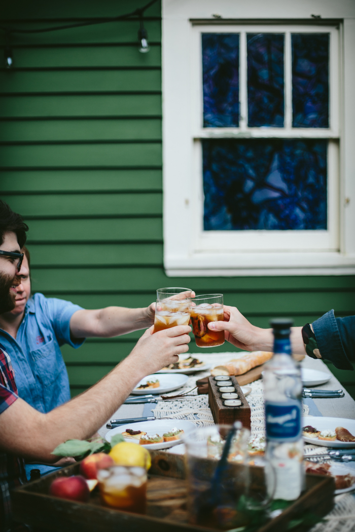 Grilled Peach Spiked Iced Tea by Eva Kosmas Flores   Adventures in Cooking