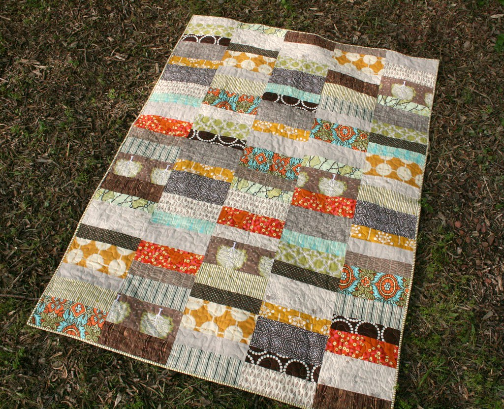 Optimism throw quilt blogged Pattern here Emily Flickr
