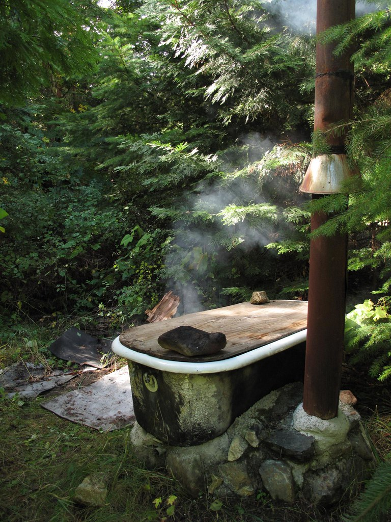 Wood Fire Bath Tub Forest Bath More Pics For The