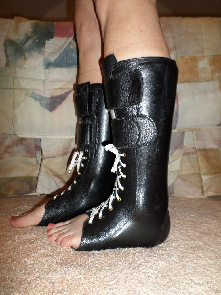 Shoes Leather Wrap Foot