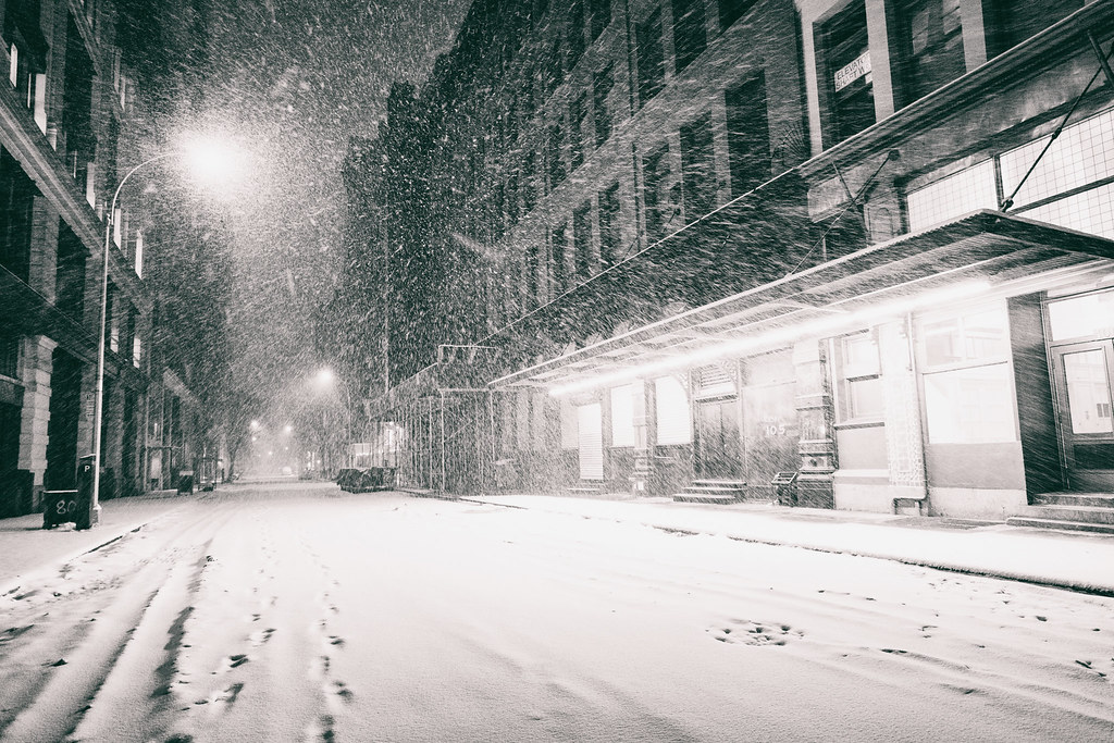 new york city snowstorm empty snowy city streets flickr