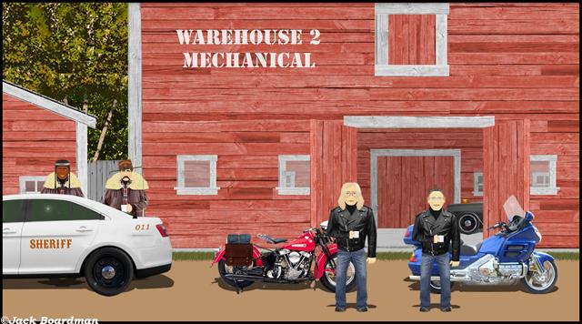 Debra and Joey prepared to road test their motorcycles ©Jack Boardman