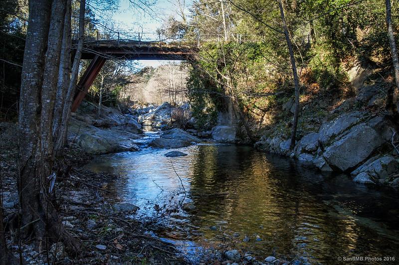 Bajo el puente de La Farga