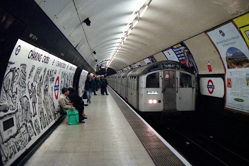 London Underground - Northern Line - 1959 stock at Charing Cross