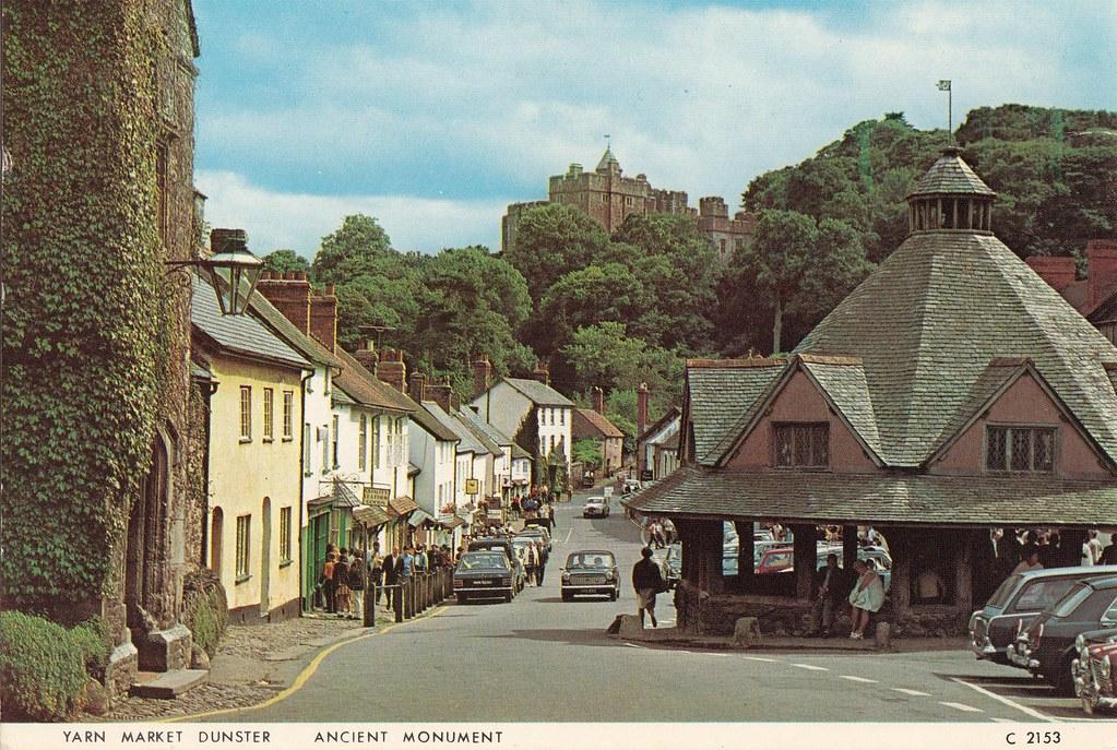 Yarn Market : Yarn Market, High Street, Dunster old postcard late 1960s ? Flickr