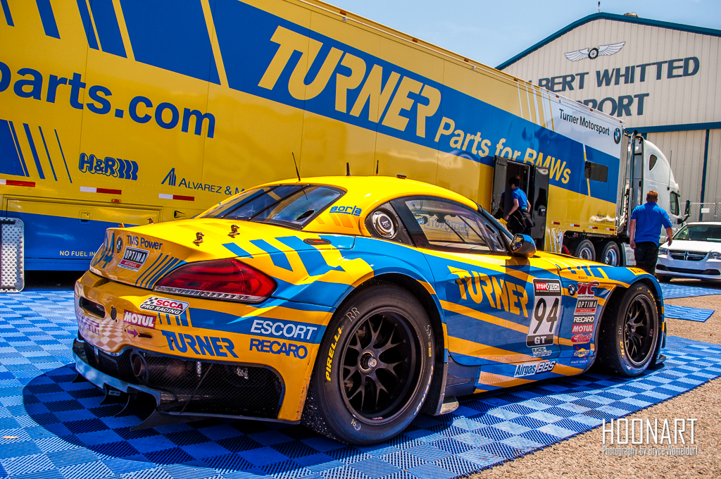 The No 94 Turner Motorsport Bmw Z4 Gt3 In The Paddock Are