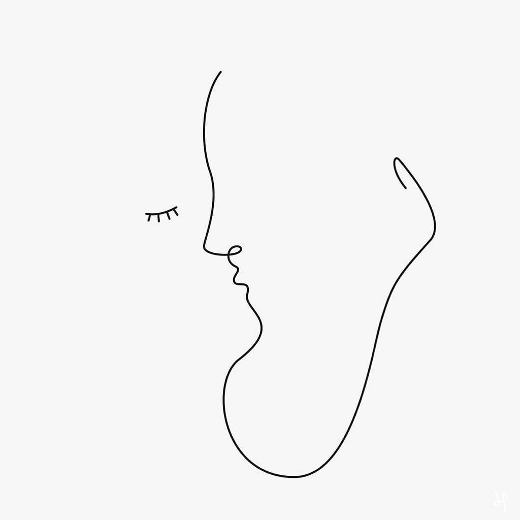 Line Drawing Kiss : One line kiss by wuukasch picame minimalism flickr