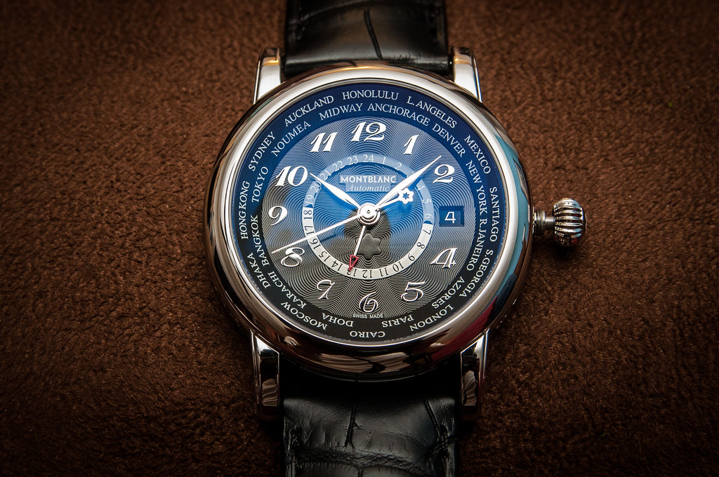 montblanc star world time swiss automatic watch
