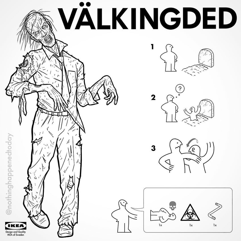 IKEA Instructions for Horror Fans - Walking Dead by Ed Harrington