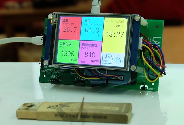 微型空汙監測器 LASS4U 民間Maker 自造版  攝影:陳文姿