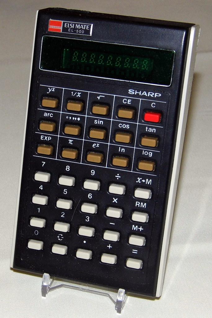 vintage sharp elsi mate pocket led calculator model el50